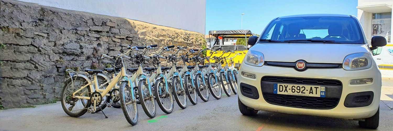 Park de vélos à louer chez l'Auto Bécane