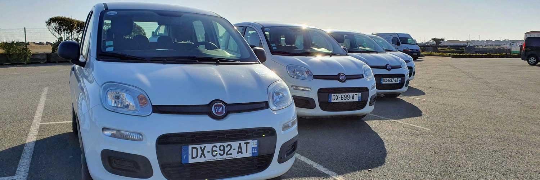 Park de voitures à louer chez l'Auto Bécane